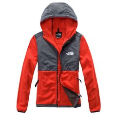 The North Face Denali Orange Hoodie Is Competitive In Price To Win More Customers! #northface #clothes