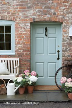 Little Greene Front Door - Celestial Blue    Heyse Lifestyle Studio Hannover. The Little Greene Stockist mit eigener Farbmischanlage in Hannover.