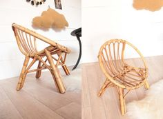 fauteuil coquille vintage enfant rotin Trendy Little