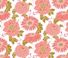 Mixed Floral fabric by artlesliemark on Spoonflower - custom fabric