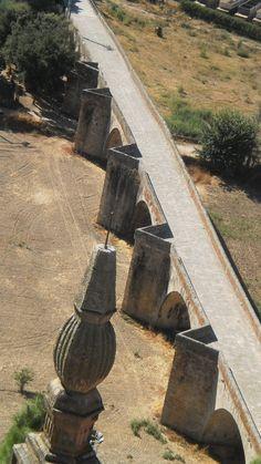 A consecuencia del terremoto de Lisboa de 1755, Coria posee un tremendo puente romano que no cruza ningún río, sino la Vega del Río Alagón y por lo tanto estuvo un tiempo en el que este río, se quedó sin puente. La foto está hecha desde la torre de la catedral que atesora el Mantel de la Última Cena (El Mantelito).