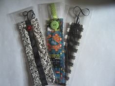 A small selection of fabric bookmarks.