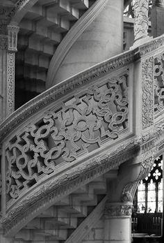 Fine stone work of the choir screen, Saint-Étienne-du-Mont | Paris, France