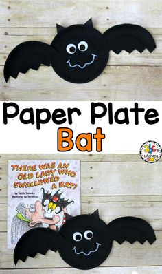Your students will have a fun creating this easy-to-make Paper Plate Bat after reading There Was An Old Lady Who Swallowed A Bat. Click on the picture to find out how to make this Halloween craft.