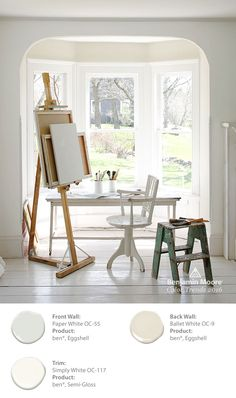 Benjamin Moore Just Announced the 2016 Color of the Year… The right white wall color isn't just a blank canvas. Like Simply White from it has depth and warmth, and can define beautiful, inspiring spaces. Colores Benjamin Moore, Benjamin Moore Colors, Benjamin Moore Paper White, Ballet White Benjamin Moore, Art Studio At Home, Home Art, Shades Of White, Color Of The Year, White Walls