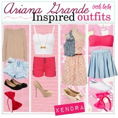 Ariana Grande Inspired Outfits. ♥ by girly-notebook on Polyvore featuring AX Paris, Rut&Circle, White Crow, Tokyo Laundry, H&M, Accessorize, Monsoon, Keds, Sergio Rossi and Forever 21