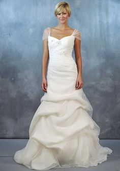 Jenny Lee Spring 2013 wedding dress with illusion cap sleeves