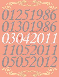 cute poster design idea. special dates.