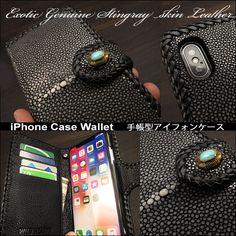 こちらは iPhone 7,8,X,XR,Xs 及び iPhone Plus,Xs Max対応ケースです。 送料無料!良質の高級スティングレイ/ブラックを入荷! iPhone 7 8 X Xs /7 Plus 8 Plus Xs Max XR 手帳型 スティングレイ/エイ革 ハンドメイド 財布 Stingray Skin Leather Folder Protective Case Cover For iPhone  WILD HEARTS Leather&Silver (ID ip3741) Iphone Flip Case, Iphone Wallet Case, Iphone 7, Iphone Cases, Iphone Leather Case, Chain, Handmade, Hand Made, Iphone Seven