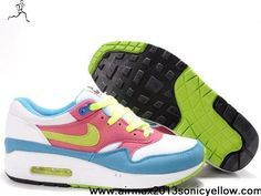 Buy 2013 New KW Infared White Red Blue Womens 314232-991 Nike Air Max 1 Casual shoes Store