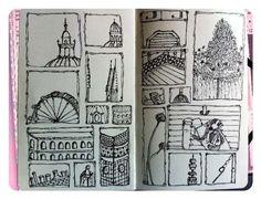 What is Grid Journaling - Grid Journal with Milliande Sketchbook Peeks