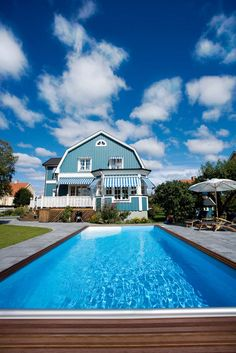 Pool Classic from Folkpool. Outdoor Activities, Mansions, House Styles, Classic, Outdoor Decor, Home Decor, Pictures, Derby, Decoration Home