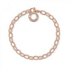 Thomas Sabo   18ct Rose Gold Plated Charm Bracelet