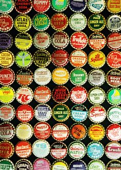 bottlecaps. Who remembers popping the cork liner out and putting tin lid on top of your shirt and pressing the cork in from underside to hold in place?