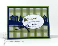 Hearts Come Home, Hometown Greetings Edgelits, Under The Mistletoe DSP, Stampin' Up! Holiday Cards, Christmas Cards, Under The Mistletoe, Christmas In July, Halloween Cards, Christmas Projects, Stampin Up, Paper Crafts, 5 Months