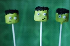 These cake pops make Frankenstein look anything but scary! Source: Sweet Cheeks Tasty Treats