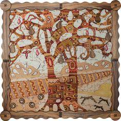 СВ0049 Wonderland tree. Cross stitch kits with canvas with printed