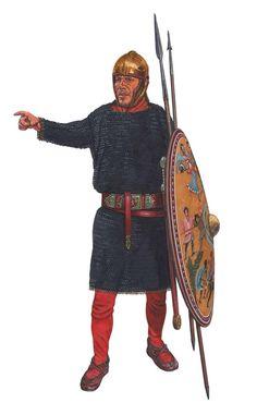 Римский легионер, конец III века н.э.  Художник Graham Sumner.