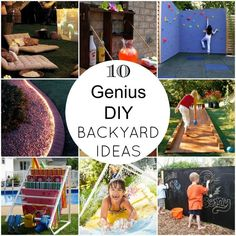 These easy DIY backyard ideas will totally transform your backyard into an oasis that you won't ever want to leave & make you the envy of your neighbors.