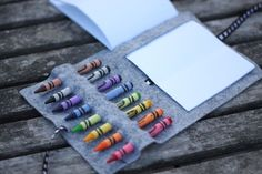 No sew crayon wrap - what a great idea!