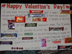 My Candy Bar Poster for my Hunny for Valentines Day  Things I