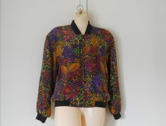 Silk Windbreaker Jacket Silk Jacket Silk Bomber by TheVilleVintage, $39.99