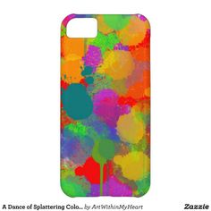 A Dance of Splattering Colors Case For iPhone 5C