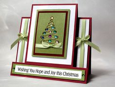 CCC11 Hope and Joy by Gem35 - Christmas Center step card at Splitcoaststampers