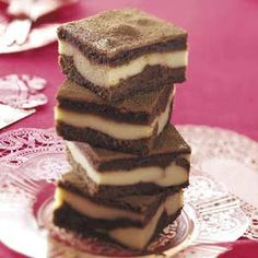 Tiramisu Brownies... Taste of Home...     —what a yummy combination! This easy recipe gives you the traditional tiramisu flavor you adore minus the fuss.—Anna-Maria Carpanzano, Whitby, Ontario