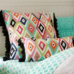 Ikat Crewel Multi Pillow Cover $35-$49