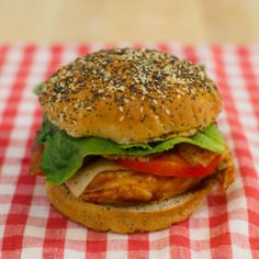 Sweet and Spicy BBQ Chicken Sandwiches