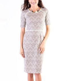 Look at this #zulilyfind! Gray Damask Merriment Dress #zulilyfinds
