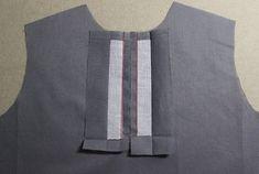 셔츠의 플라켓 봉제법 셔츠의 여밈 부분을 플라켓 이라고 해요. 정확한 재단을 해야 예쁘게 완성되는 부분 ... Baby Dress Patterns, Sewing Patterns, Sewing Pockets, Bead Sewing, Unicorn Dress, Blouse Dress, Sewing Techniques, Sewing Hacks, Good To Know