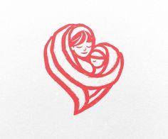 mom + baby heart logo