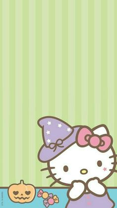 Hello Kitty - Tap the link now to see all of our cool cat collections! Goth Wallpaper, Sanrio Wallpaper, Friends Wallpaper, Hello Kitty Wallpaper, Kawaii Wallpaper, Hello Kitty Halloween, Kawaii Halloween, Hello Kitty Pictures, Kitty Images