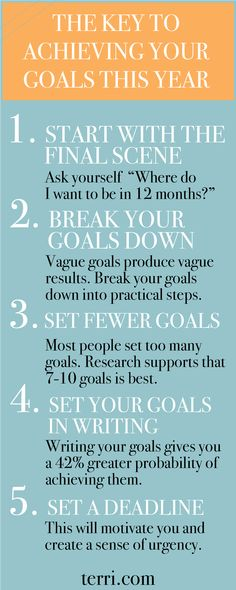 Here is the key to achieving your goals this year! Everyone sets New Years goals and resolutions but, statistics show that people set the same goal 10 times with no success. Here are THE KEYS to implement to achieve your 2018 goals. For more on effective goal setting, click the pin to watch a 10 minute teaching on these steps AND download my FREE goal setting method to help you with your New Years resolutions!