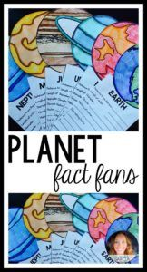 Planet Fact Fans Are You Looking For A School Project To Help Teach Your Students About Planets And The Solar System This Fun Craft For Kids Is Interactive And Educational Students Research The Planets And Write The Facts On Each Quot Fan Quot Kid Science, 4th Grade Science, Elementary Science, Science Classroom, Science Lessons, Teaching Science, Science Activities, Science Projects, Solar System Activities