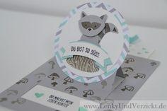 Lenky & Verzickt: Pop Up Karte mit dem Foxy Friend