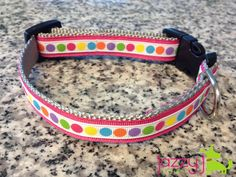 Pink Polka Dot Dog Collar - perfect for summer!!!  Jazzy J Designs $15