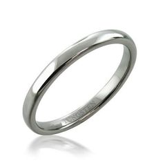 Bling Jewelry Simple Minimalist Thin Stackable Dome Couples Titanium Wedding Band Ring for Men for Women Polished Silver Tone Thin Wedding Bands, Classic Wedding Rings, Bling Jewelry, Wedding Jewelry, Tungsten Carbide Wedding Bands, Tungsten Rings, Unisex, Rings For Men, Engagement Rings