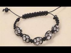 Braided Shamballa bead bracelet. Step by step video tutorial. You can substitute any type of beads.