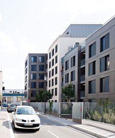 Le projet s'implante le long de la rue Proudhon en créant unlien sobre entre …