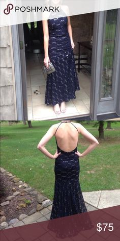 Only worn once! A beautiful sequined prom dress from Dillard's. Only worn once and in perfect condition! Dresses Prom