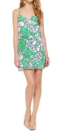 Lilly Pulitzer Dusk Strappy Silk Slip Dress in Shape Up or Ship Out