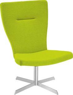 Trendiger Stuhl in leuchtendem Grün - modern und bequem