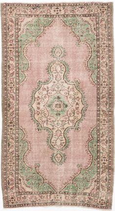 5'2 x 9'5 Melis Vintage Turkish Rug