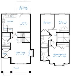 1000 images about floor plans on pinterest otr for 3 bedroom ensuite house plans