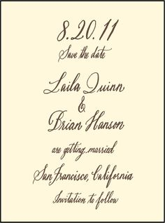 Letterpress Wedding Save the dates | Belle Calligraphy Design | Bella Figura Letterpress