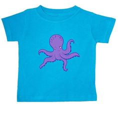 Inktastic Purple Octopus Baby T-Shirt Ocean Animal Vacation Summer T-shirt Infant Tees Shower Gift Clothing Apparel, Infant Boy's, Size: 18 Months, Blue