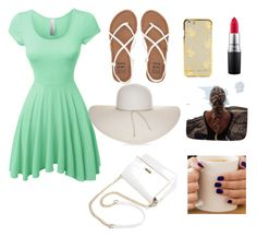 """""""Untitled #6"""" by anikab4 ❤ liked on Polyvore featuring LE3NO, Billabong, Nine West and MAC Cosmetics"""